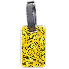 Caution Road Sign Cross Yellow Luggage Tags (two Sides) by Alisyart
