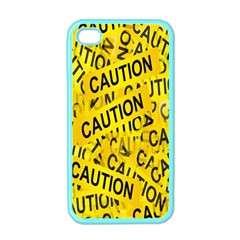 Caution Road Sign Cross Yellow Apple Iphone 4 Case (color) by Alisyart