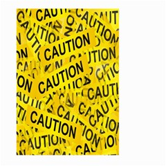 Caution Road Sign Cross Yellow Large Garden Flag (two Sides) by Alisyart