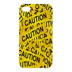 Caution Road Sign Cross Yellow Apple Iphone 4/4s Premium Hardshell Case by Alisyart