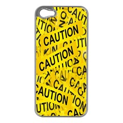 Caution Road Sign Cross Yellow Apple Iphone 5 Case (silver) by Alisyart