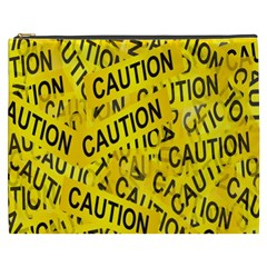 Caution Road Sign Cross Yellow Cosmetic Bag (xxxl)