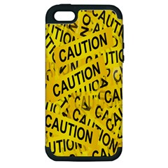 Caution Road Sign Cross Yellow Apple Iphone 5 Hardshell Case (pc+silicone) by Alisyart