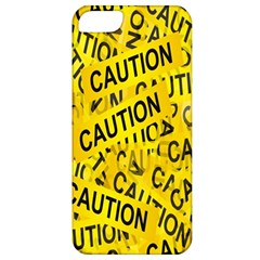 Caution Road Sign Cross Yellow Apple Iphone 5 Classic Hardshell Case by Alisyart