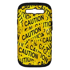 Caution Road Sign Cross Yellow Samsung Galaxy S Iii Hardshell Case (pc+silicone) by Alisyart