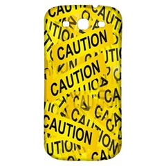 Caution Road Sign Cross Yellow Samsung Galaxy S3 S Iii Classic Hardshell Back Case by Alisyart