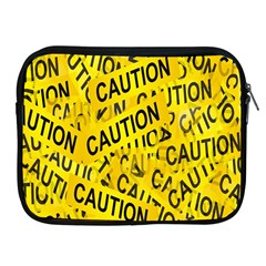 Caution Road Sign Cross Yellow Apple Ipad 2/3/4 Zipper Cases by Alisyart