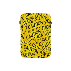 Caution Road Sign Cross Yellow Apple Ipad Mini Protective Soft Cases by Alisyart