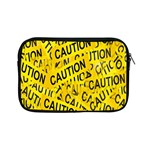Caution Road Sign Cross Yellow Apple iPad Mini Zipper Cases Front