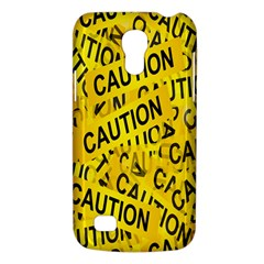 Caution Road Sign Cross Yellow Galaxy S4 Mini by Alisyart
