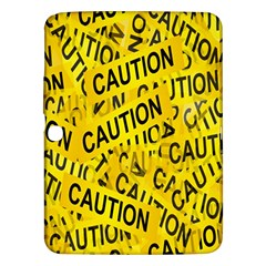 Caution Road Sign Cross Yellow Samsung Galaxy Tab 3 (10 1 ) P5200 Hardshell Case  by Alisyart