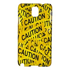 Caution Road Sign Cross Yellow Samsung Galaxy Note 3 N9005 Hardshell Case by Alisyart