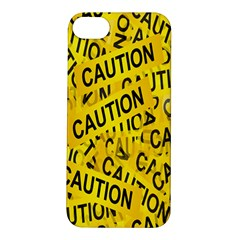 Caution Road Sign Cross Yellow Apple Iphone 5s/ Se Hardshell Case by Alisyart