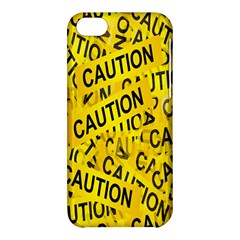 Caution Road Sign Cross Yellow Apple Iphone 5c Hardshell Case by Alisyart