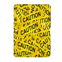 Caution Road Sign Cross Yellow Samsung Galaxy Tab 2 (10 1 ) P5100 Hardshell Case  by Alisyart