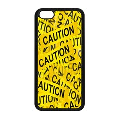 Caution Road Sign Cross Yellow Apple Iphone 5c Seamless Case (black) by Alisyart