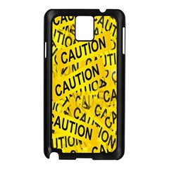 Caution Road Sign Cross Yellow Samsung Galaxy Note 3 N9005 Case (black) by Alisyart