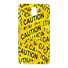 Caution Road Sign Cross Yellow Samsung Galaxy Note 3 N9005 Hardshell Back Case by Alisyart