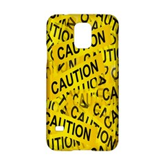 Caution Road Sign Cross Yellow Samsung Galaxy S5 Hardshell Case  by Alisyart