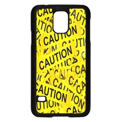 Caution Road Sign Cross Yellow Samsung Galaxy S5 Case (black) by Alisyart