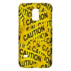 Caution Road Sign Cross Yellow Galaxy S5 Mini by Alisyart