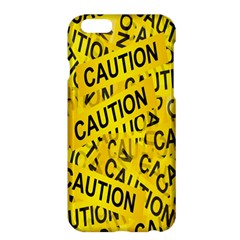 Caution Road Sign Cross Yellow Apple Iphone 6 Plus/6s Plus Hardshell Case by Alisyart