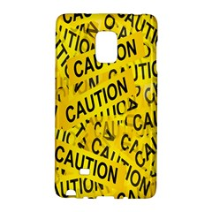Caution Road Sign Cross Yellow Galaxy Note Edge by Alisyart