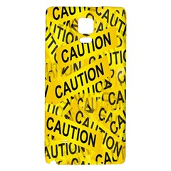 Caution Road Sign Cross Yellow Galaxy Note 4 Back Case by Alisyart