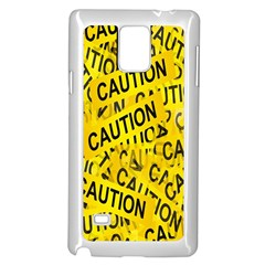 Caution Road Sign Cross Yellow Samsung Galaxy Note 4 Case (white) by Alisyart