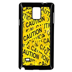 Caution Road Sign Cross Yellow Samsung Galaxy Note 4 Case (black) by Alisyart