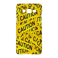 Caution Road Sign Cross Yellow Samsung Galaxy A5 Hardshell Case  by Alisyart