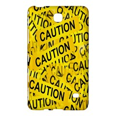 Caution Road Sign Cross Yellow Samsung Galaxy Tab 4 (7 ) Hardshell Case  by Alisyart