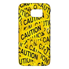 Caution Road Sign Cross Yellow Galaxy S6 by Alisyart