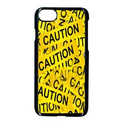 Caution Road Sign Cross Yellow Apple Iphone 7 Seamless Case (black) by Alisyart
