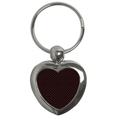 Colored Circle Red Black Key Chains (heart)