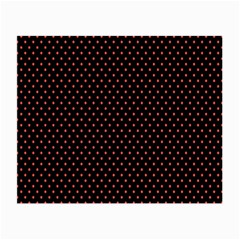 Colored Circle Red Black Small Glasses Cloth (2 Side)