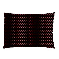 Colored Circle Red Black Pillow Case