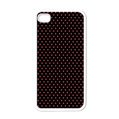 Colored Circle Red Black Apple Iphone 4 Case (white)