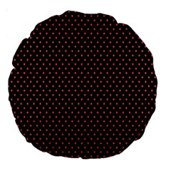 Colored Circle Red Black Large 18  Premium Round Cushions by Alisyart