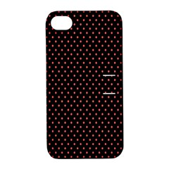 Colored Circle Red Black Apple Iphone 4/4s Hardshell Case With Stand by Alisyart