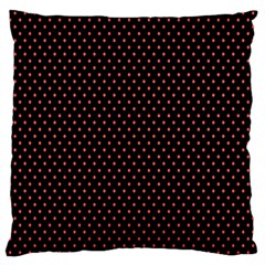 Colored Circle Red Black Large Flano Cushion Case (two Sides) by Alisyart