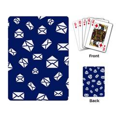 Envelope Letter Sand Blue White Masage Playing Card by Alisyart
