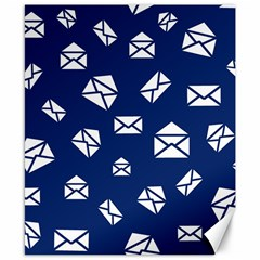Envelope Letter Sand Blue White Masage Canvas 8  X 10