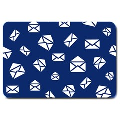 Envelope Letter Sand Blue White Masage Large Doormat