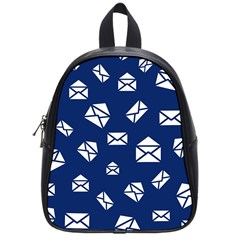 Envelope Letter Sand Blue White Masage School Bags (small)  by Alisyart