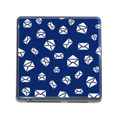 Envelope Letter Sand Blue White Masage Memory Card Reader (square) by Alisyart