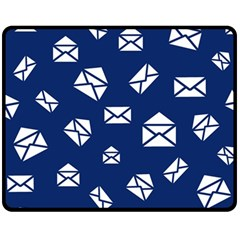 Envelope Letter Sand Blue White Masage Fleece Blanket (medium)  by Alisyart
