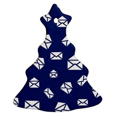 Envelope Letter Sand Blue White Masage Christmas Tree Ornament (two Sides)