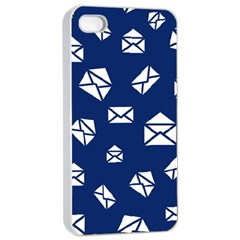 Envelope Letter Sand Blue White Masage Apple Iphone 4/4s Seamless Case (white) by Alisyart