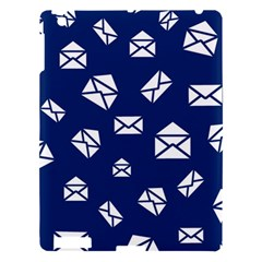 Envelope Letter Sand Blue White Masage Apple Ipad 3/4 Hardshell Case by Alisyart